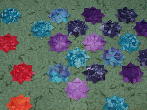 folded flower quilt