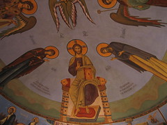 IMG 013 (Olga Rozhdestvenskaya) Tags: art church painting christ russia moscow contemporaryart ceiling vault fresco wallpainting russianchurch theotokos stjohnthebaptist