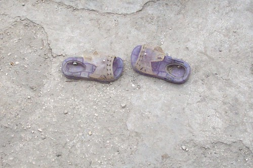 Child's shoes, Haiti
