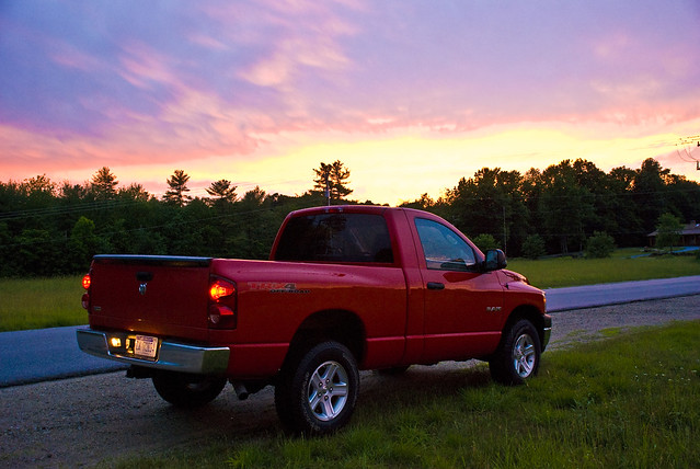 sunset red sky truck dodge ram 2008 1500 47 trx shortbed regularcab zanemerva autoinsanecom