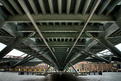 At Daytime (roevin | Urban Capture) Tags: bridge water amsterdam architecture stairs buildings reflections construction steel tripod under thenetherlands janschaeferbrug ijriver theperfectphotographer