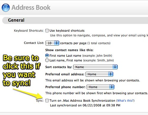 .Mac Address Book - Preferences
