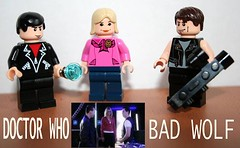 Doctor Who: the original Bad Wolf team (Spielbrick Films) Tags: lego doctorwho minifig thedoctor badwolf billiepiper christophereccleston rosetyler jackharkness johnbarrowman