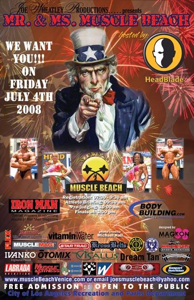 Muscle Beach July 4 Venice California