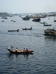 so row on (aliceysu) Tags: water boats row habitat bangladesh riverscene