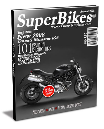 ezine cover action template- bikes