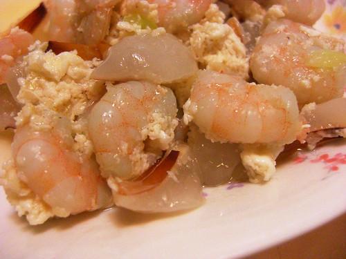 荔枝滑蛋蝦