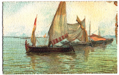 Vintage postcard, boat #3 (CGoulao) Tags: old classic portugal vintage