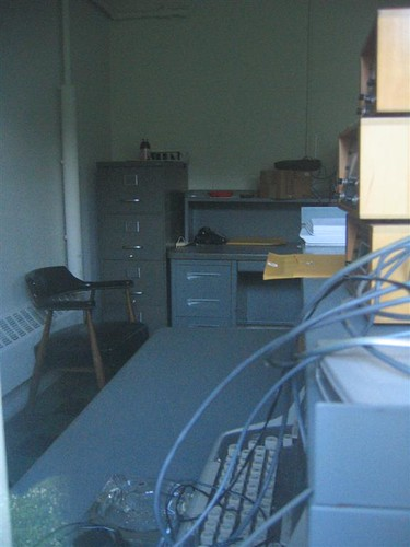 Office in the auxiliary police HQ