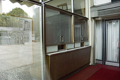 Kosmos, Berlin Mitte -Box Offices (Roloff) Tags: cinema building berlin film movie geotagged kino theatre bricks entrance palace cine blueprint ddr movies boxoffice movietheater bioscoop ticketbooth multiplex berlijn kassa ticketing karlmarxallee formertheater herbertaust josefkaiser kosmosufapalast filmtheaterkosmos
