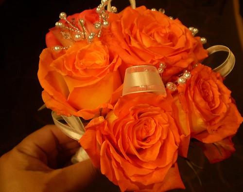 Orange Flowers Orange Bouquet Wedding Photo