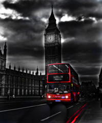 Red Bus (Gabriele Parafioriti Photography) Tags: city uk travel red sky urban bw black bus london art heritage architecture night clouds square grey italia nuvole cityscape grigio photographer arte britain united great transport trafalgar bigben cielo british routemaster rosso londra nero sicilia gabriele houseofparliament kindom fotografo inghilterra blacandwhite santagata sagata unito supershot militello regno gibrail parafioriti