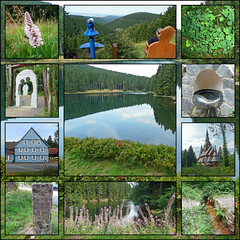 Collage Harz - Rund um den Bocksberg (RiesenFotos) Tags: collage mosaic harz bocksberg hahnenklee auerhahn liebesbankweg bockswiese riesenfotos