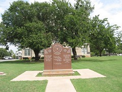 Cotton County War Memorial (carletaorg) Tags: courthouse nrhp veteranmemorial oklahomahistoricalmarker railroaddepotcemetery