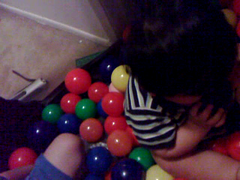 video of jordan and jarron playing in the cars ballpit (jobber99) Tags: ballpit playing jordan jarron