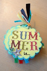 """Summer Is"" Mini Chipboard album"
