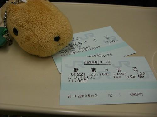 ムーンライトえちごグリーン券/Moonlight Echigo Green Car ticket