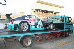 080824(2) - 史上第一輛參加『SUPER GT 日本超級房車賽』的BMW「初音ミク」痛車,實際賽車影片集錦
