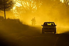 Hogsback street (pho_kus) Tags: africa sunset car workers farm south cape dust bound eastern hogsback homeward