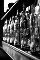 Bottle line up (hrenney) Tags: blackandwhite bw bottles guessed cokebottles pointknightmusik