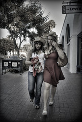 Cowgirls - HDR (manganite) Tags: california street city girls shadow people urban usa hot cute sexy topf25 colors beautiful fashion festival santabarbara digital america walking geotagged fun nikon women pretty fiesta pants state legs tl framed candid perspective young lifestyle jeans dresses desaturated d200 nikkor dslr gals cowgirls spanisch vignette hdr hdri 18200mmf3556 utatafeature manganite nikonstunninggallery repost1 date:year=2008 date:month=august date:day=1 geo:lat=34416434 geo:lon=119695069 format:ratio=32 repost2