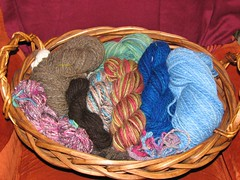 Basket full of Handspun