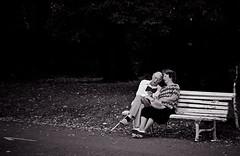 just...Love... (Svetlana Bekyarova) Tags: park old bw love bench reading couple poetry romantic