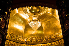 *Bling * Bling* (kushalruia) Tags: door light summer india building floral architecture canon temple gold shrine god religion cities places ceiling ganesh bombay mumbai hindu carvings innersanctum siddhivinayak techniquelowlight