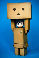 Danboard Revealed... (fendyzaidan) Tags: kids toys beck clover fendy yotsuba bluebackground 18135mm revoltech zaidan nikond80 danboard figurinesmacro
