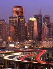 A City Energized (A Sutanto) Tags: sf sanfrancisco california ca longexposure morning light usa reflection vertical skyline america skyscraper buildings lights highway downtown traffic overpass freeway commute tall lighttrails expressway exit kingstreet 6thstreet potrerohill i280 supershot buehour