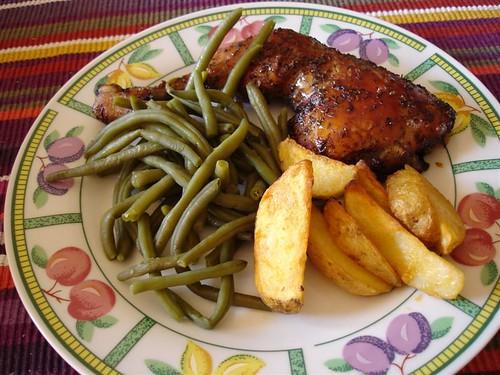 cuisses poulet sauce soja