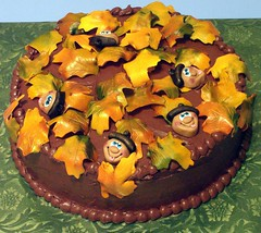 Mr. Acorn Fall Cake (Signature SugarArt) Tags: autumn fall leaves cake chocolate acorn birthdaycake fallcake autumncake dragonflycustomcakes terrigoodwin