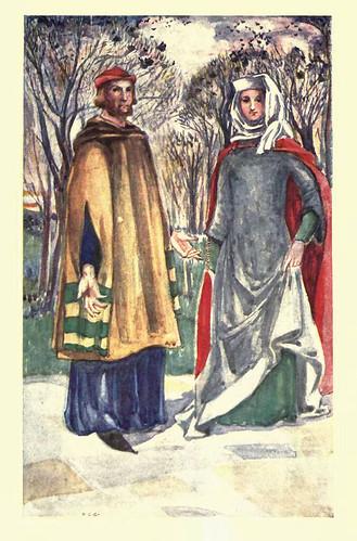 01-Vestimenta de hombre y mujer en la epoca de Edward I (1272-1307)