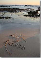 Nombres en la Arena (Alberto Jiménez Rey) Tags: sea love water de la nombres sand agua perfect photographer amor cybershot playa arena alberto lucia frontera chiclana the barrosa dsct200