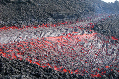 Etna lava types (Thomas Reichart ) Tags: oktober nature landscape volcano lava october sicily 2008 etna eruption forces vulkan sizilien lavaflow vulkane glhen ausbruch aalava pahoehoelava tna lavastrom theperfectphotographer naturaldesaster sticklava seillava
