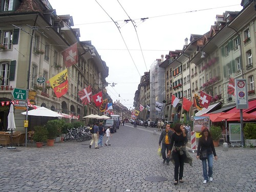 And into the old town of Bern