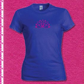 Lotus flower t-shirt Blue