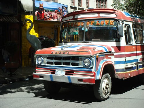 Colourful Cochabamba bus