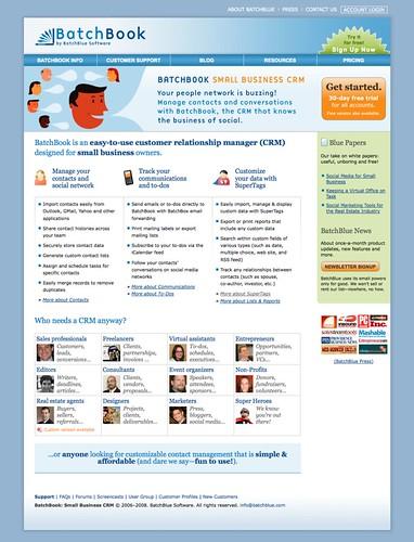 BatchBlue.com Homepage Redesign