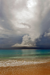 Barbados, cloudy day... (jendayee) Tags: blue light sea fab beach yellow clouds barbados onde inyoureyes digitalcameraclub mywinners yourbestshot worldwidelandscapes absolutelystunningscapes damniwishidtakenthat panoramafotogrfico theskytheme dragondaggerphoto cloudslightningstorms