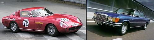 Ferrari_275_GTB-Mercedes_450_SEL
