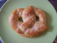 Homemade pretzel