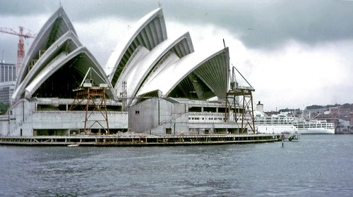Sydney Opera House under construction 1968