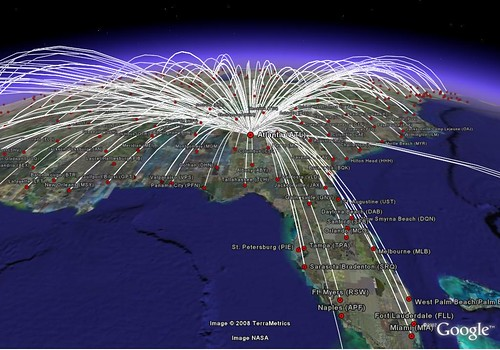 google earth us airways