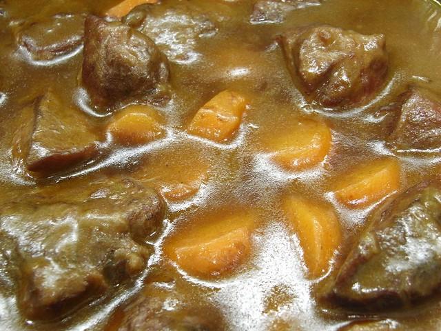 Detalle de la Carillada de Cerdo Ibérico con Zanahorias y Vino Tinto