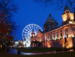 City Hall (Prints2008) Tags: longexposure ireland beautiful night artist photographer cityhall scenic belfast anthony northernireland morgan northofireland bigwheel anthonymorgan