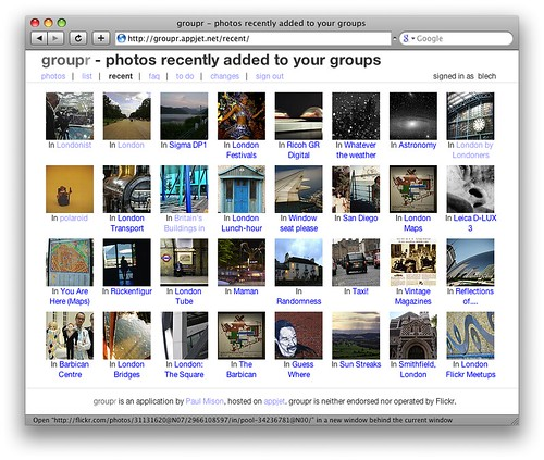 "groupr ""recently added"" view"