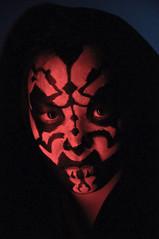 darth maul closeup (poopoorama) Tags: party halloween washington starwars costume nikon sigma christine lightsaber kirkland sith darthmaul d300 1850mmf28exmacrohsm