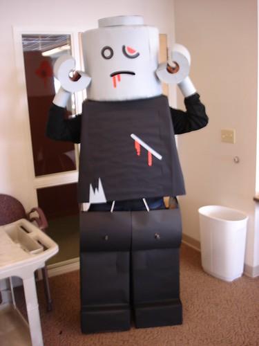 LEGO Zombie halloween costume