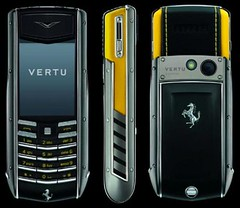 Vertu and Ferrari Ascent Ti luxury mobile phone collection by momentimedia